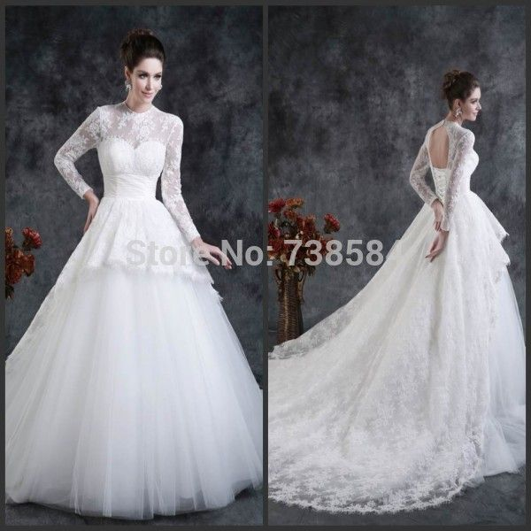 Find More Wedding Dresses Information about Free Shipping Muslim Hijab Fulled Sleeve Lace Puffy Ball Gown Wedding Dresses,High Quality dress well,China dress bell Suppliers, Cheap dress pouch from 100% Love Wedding Dress & Evening Dress Factory on Aliexpress.com