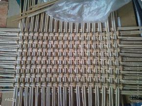 Поделка изделие Плетение Сложное плетеное донышко по МК Тищенко Бумага газетная Трубочки бумажные