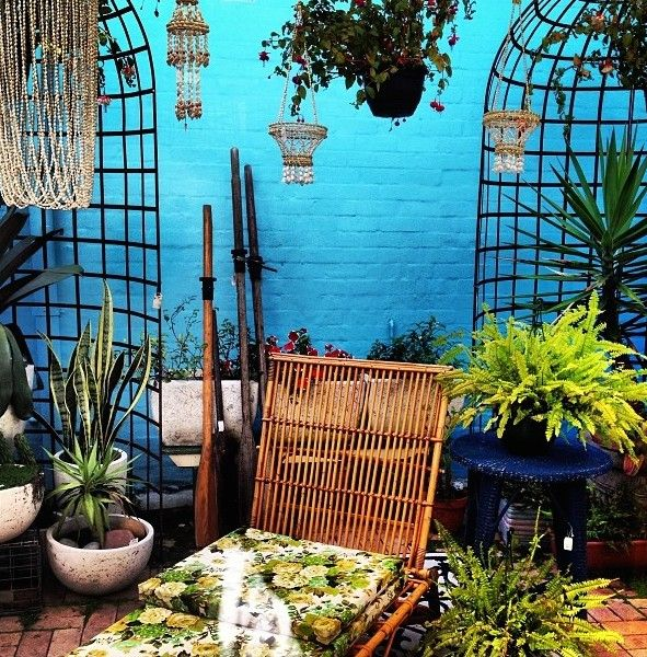 Beautiful Gorgeous Modern Garden Concept Idea With Bright: Bohemian Patio & Garden