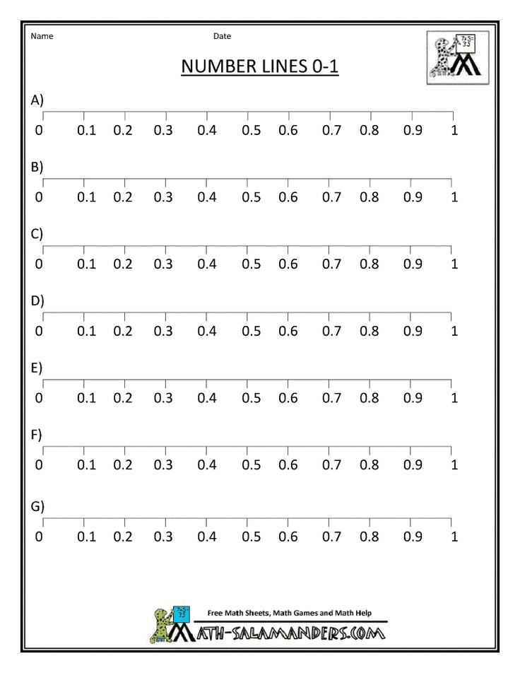 Fraction Number Lines | New Calendar Template Site