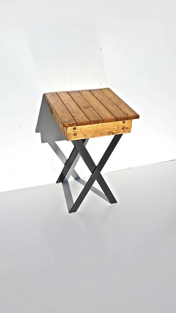 Industrial Night Stand/Rustic End Table/Bed by MeffordVentures