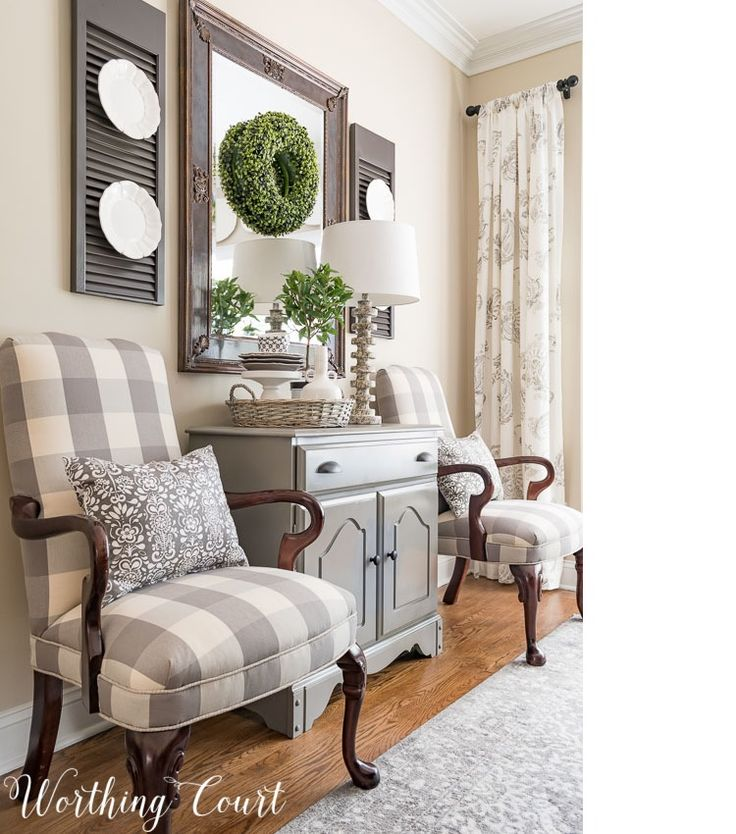 Dining Room Makeover Reveal, Late Summer Kitchen Shelves And Centerpiece And More!