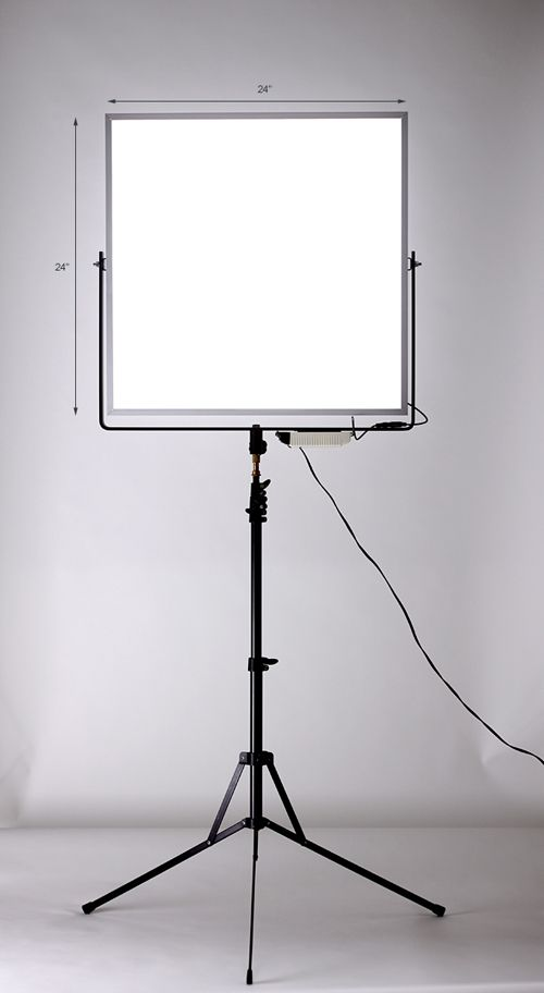 DIY LED Light Panel | Boon Vong | www.b-vong.com (Article, examples, and video)