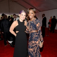 Kelly Osbourne And Estelle | GRAMMY.com- wearing Love Collins Custom Clothier: Estelle Wearing, 55Th Annual, Annual Grammy, Collins Original, Kelly Osbourne, Funky Fashion, Estelle Arrive, Photo, Collins Custom