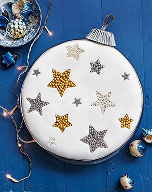 GBBO 2013 winner Frances Quinn shows how to make an elegant bauble cake... it's so much easier than it looks.