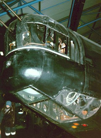 Bombardiers window below nose turret. Vickers Wellington.