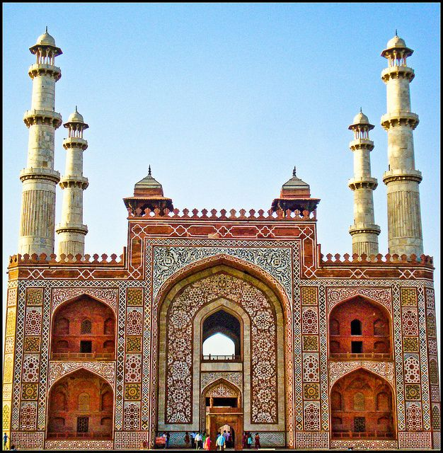 Tomb of Akbar the Great, Sikandra, Agra, UP, India