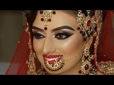 Beautiful Asian Bridal Makeup Tutorial   Makeup Tutorials for Indian Brides   Krushhh by Konica - YouTube