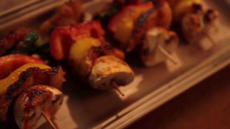 쌈장 삼겹살 꼬치구이 (Korean pork skewers with Ssamjang sauce)