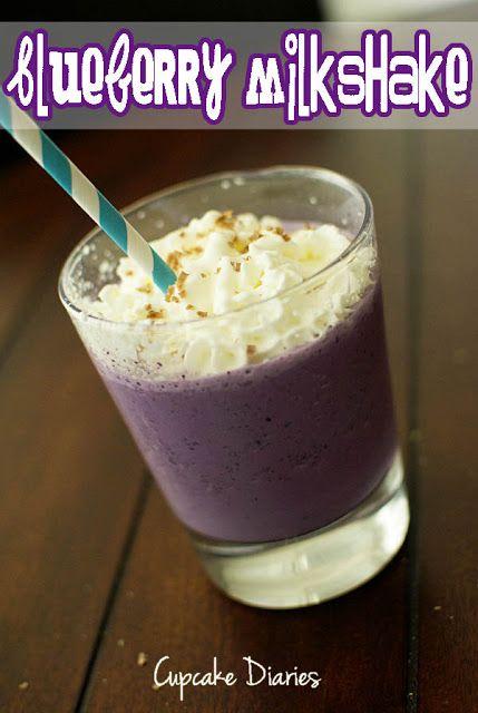 Blueberry Milkshake from Cupcake Diaries | #milkshake #recipe #blueberry