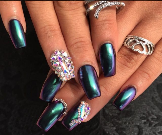 Best 25+ Chrome Nails Ideas Only On Pinterest