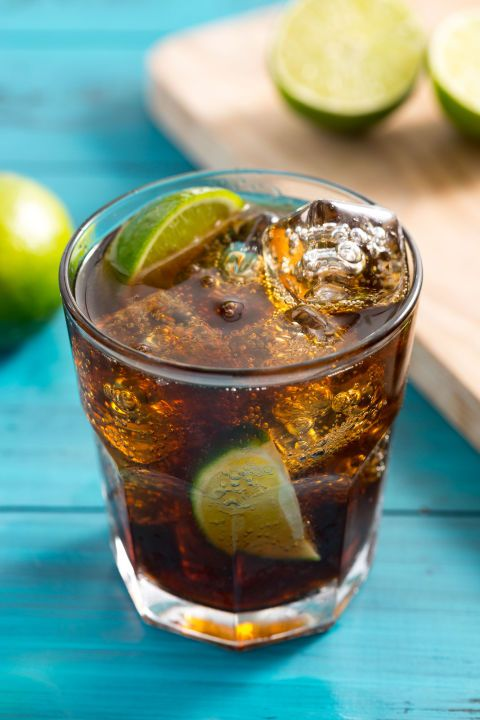 Add lime juice to a good old fashioned rum and coke, and you've got yourself a Cuba Libre! Get the recipe: Cuba Libre