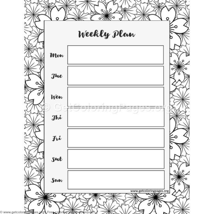 5 Weekly Planner Coloring Pages Getcoloringpages Org Coloring Coloringbook Coloringpages Coloringbooks Temp Weekly Planner Coloring Pages Planner Paper