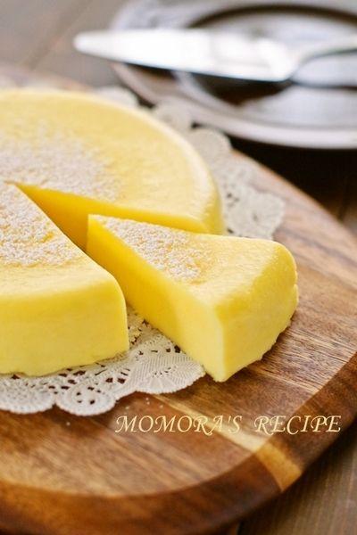 ホットケーキミックスHMとレンジで5分の超簡単お菓子♡本格濃厚チーズケーキ♡クリスマスにも