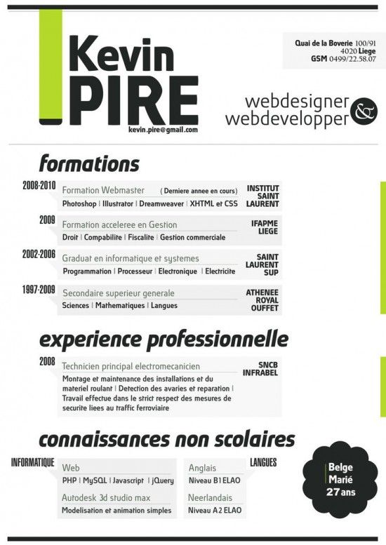 52 best how to do a creative CV images on Pinterest Resume cv - resume format download free in word