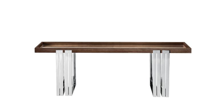 Laskasas | Belle Console Table | Double legged iron console, presented here in two top versions. With a modernist design, Belle is an elegant addition and contemporary to refresh your home or the decor of your new home. | www.laskasas.com