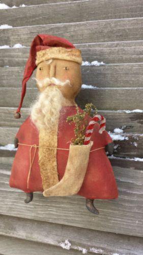 "Folky Primitive ""Chubby Santa"" Doll"