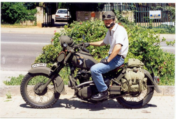 """My """"Indian"""" i built, heavily modified Suzuki DR500"""