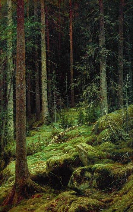 Brie 1881 142h93. Ivan Ivanovich Shishkin