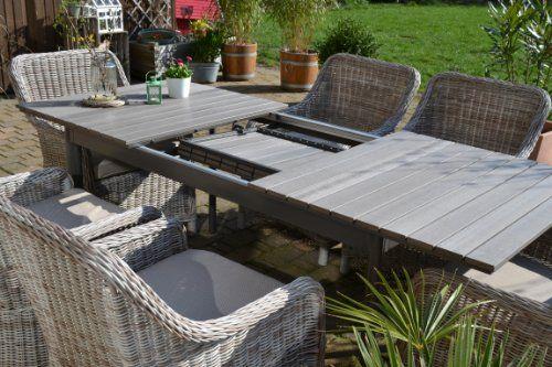 Gartenmöbel Set Tisch Ausziehbar Holzdekor Mit 6 Sessel Rattan Polyrattan  Geflecht   404 Not Found   FS INSPIRE