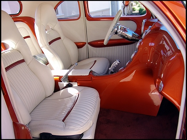 What Do You Think Of This 1939 Ford Coupe 39 S Custom Interior Mecumhouston Cars Pinterest