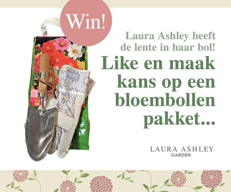 Laura Ashley heeft de lente in haar bol!  Doe mee aan onze LIKE&WIN actie op Facebook!
