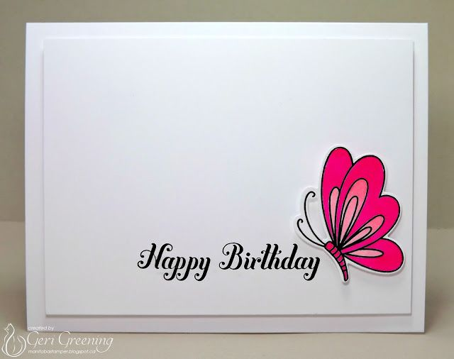 654 best card design clean simple images on pinterest birthdays handmade birthday card from manitoba stamper clean and simple bright m4hsunfo