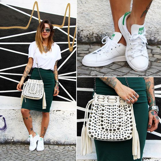Adidas Stan Smith Green Outfit