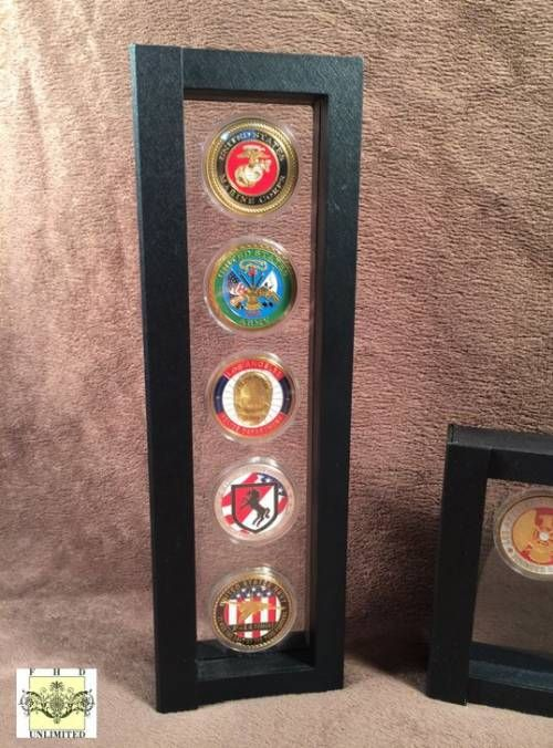 Challenge Coin Case - Five Coin Display