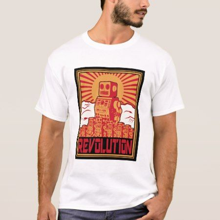 Robot Uprising T-Shirt - tap, personalize, buy right now!