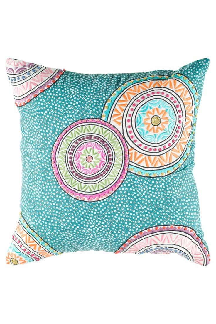 Teal Mandala Pillow | India | Pinterest