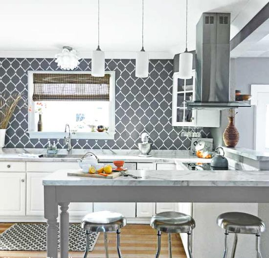 Benjamin Moore Starts A Trend With Stenciled Kitchen: 20 Best Chinese Ginkgo Stencil By Kim Myles Images On