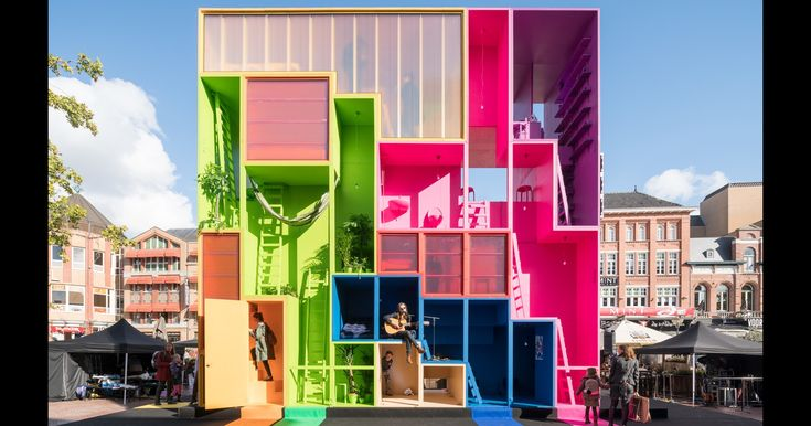 MVRDV Designs Multicolored Tetris Hotel for Dutch Design Week 2017