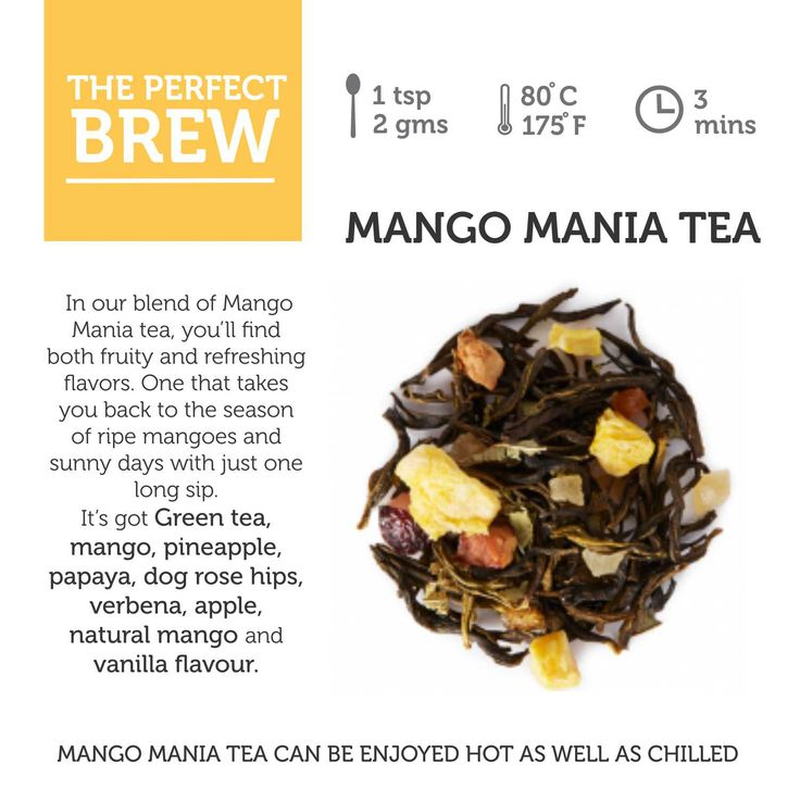 Such an interesting fruity blend in the Mango Mania tea. And did you know you it can be enjoyed hot, as well as chilled? #mango #fruits #ilovefruits #brew #cuppa #hot #chilled #summer #drink #tea #tealovers #tealosophy
