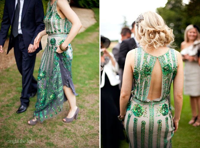 green wedding dresses in london