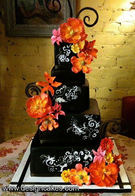 Mexican Chocolate Wedding Cake