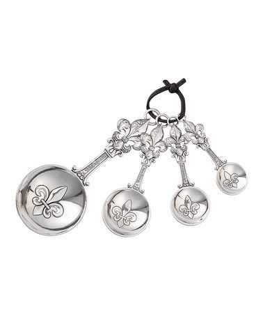 This Fleur-de-Lis Measuring Spoon Set is perfect! #zulilyfinds