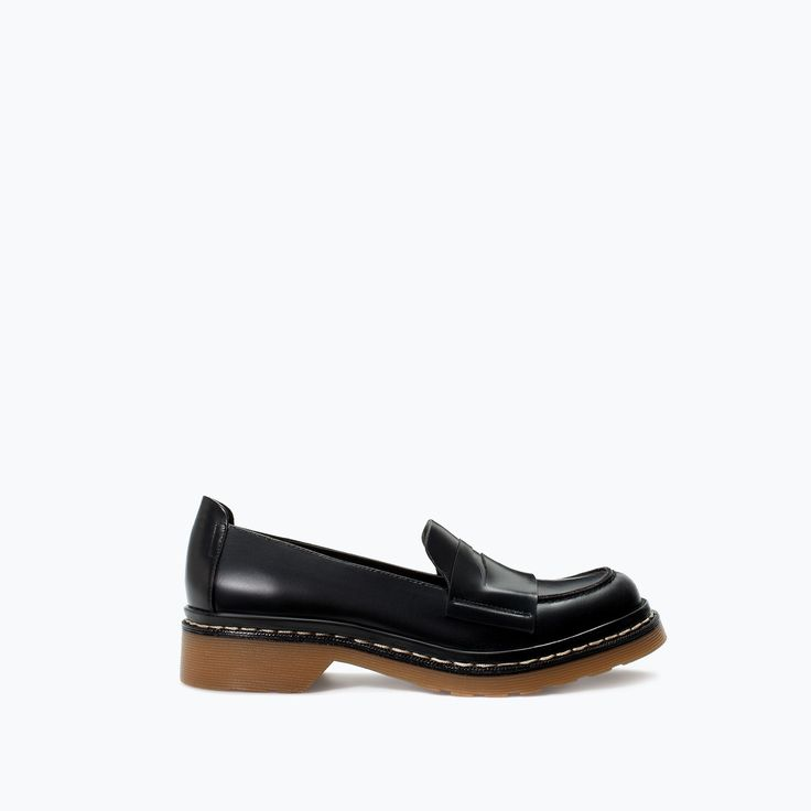 LEATHER MOCCASIN from Zara