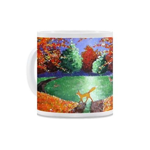Autumn Fox Mug by angielivingstone at zippi.co.uk
