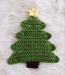 Christmas Tree Pot Holder (FREE Crochet Pattern) - Melody's Makings