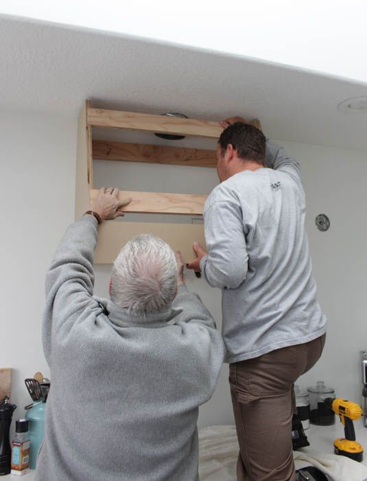 How to make your own wooden range hood fan for a Braun Fan Insert from build.com at thehappyhousie.com-25