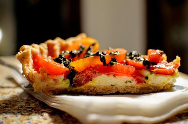 Heirloom tomato tart with lemon-feta mascarpone | Cheesy Pennies ...