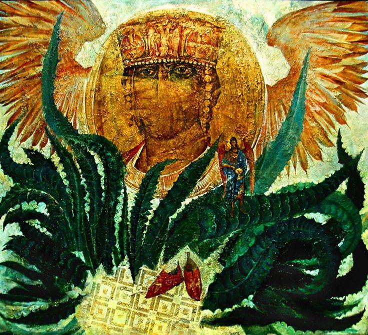 """ПОСЛЕДНИЙ ИМПЕРАТОР"" ,1991, холст, масло, рельефные пасты, золотая фольга, 195х156.   ""THE LAST EMPEROR"", canvas, oil, relief pastes, golden foil, 195x156 cm. more - http://lauren.ru/en/pics/gallery/skifiya/id_111.html?task=view"