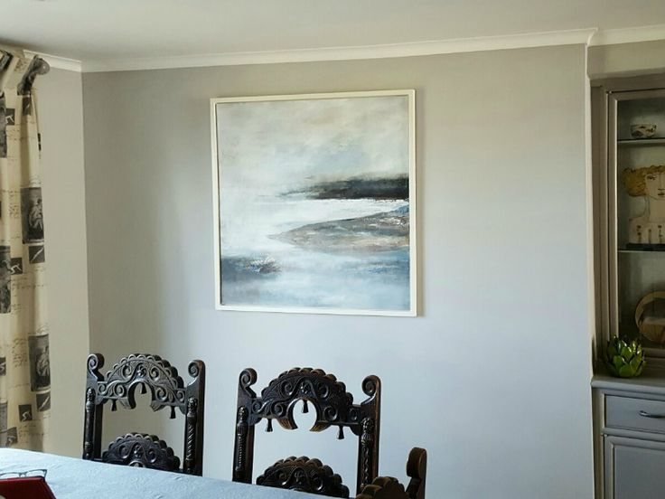 Always lovely when a customer sends in an image of a purchase in situ Apparently the whole dining room was redecorated to accommodate this painting by Leila Godden - something an artist longs to hear!