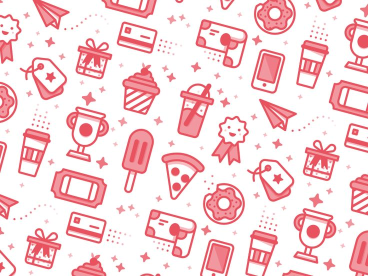 Rewards Icon Pattern by Kyle Anthony Miller http://iconutopia.com/best-icons-of-the-week-week-12/