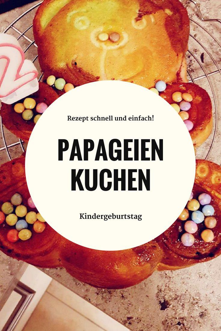 Schnelles, einfaches Papageienkuchen Rezept #rezept #rezeptideen #kindergeburtstag