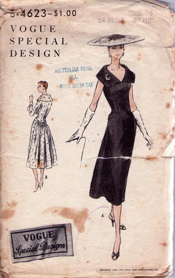 620 Best Vintage Vogue Patterns Images On Pinterest
