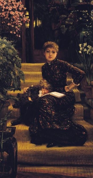 theyoungromantics:    1881  highvictoriana:    The Elder Sister by James Tissot.