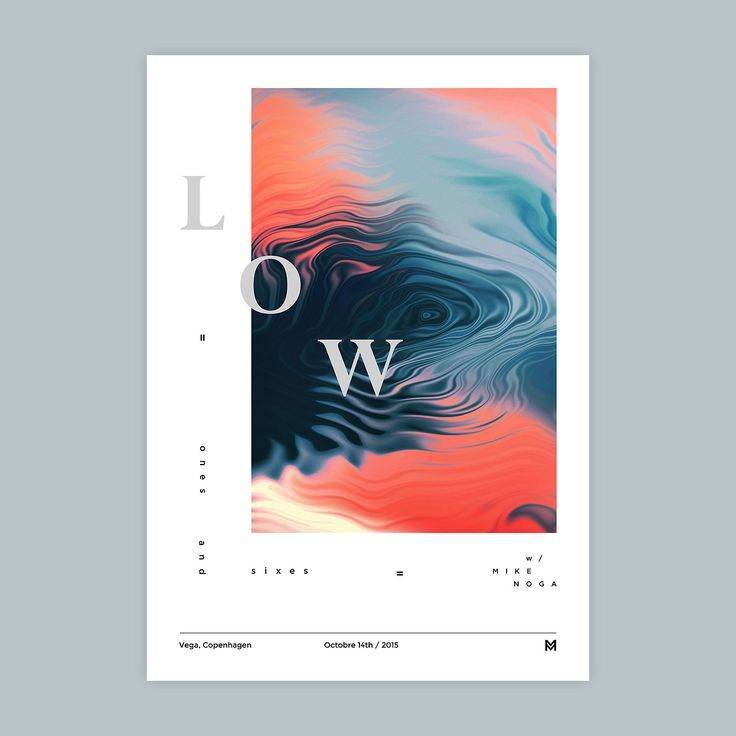 Gig poster project - Low | VISUALGRAPHC