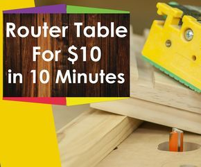 Learn how to build a router table for Woodworking for under $10 in this woodworking video for beginners. This simple router table is a good starting point for people who are learning woodworking or even the professional looking for a quick site setup.